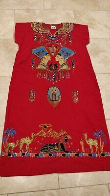 Vintage Embellished Egyptian Kaftan Size 16 / Large