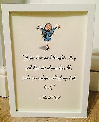 The BFG Roald Dahl Vintage Style Quote Art Print Unframed Gift Nursery