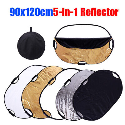 90x120cm Photography 5 in1 Light Collapsible Portable Photo Reflector Diffuser