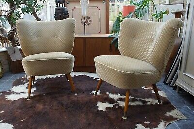 Pair Of Original Retro Vintage Mid Century Cocktail Chairs M17-8 Great Condition