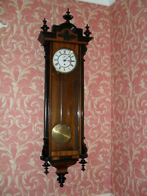 Very Attractive Antique Vienna Wall Clock (Timepiece)