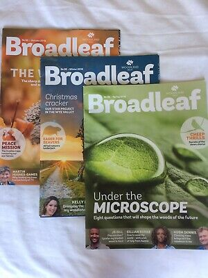 Broadleaf Magazine # 94 95 96 Woodland Trust x3 Autumn/Winter 2018 & Spring 2019