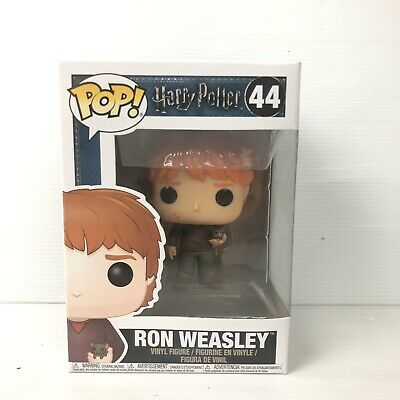 Harry Potter Ron Weasley With Scabbers #44 - Funko Pop! Vinyl Figure Creased Box