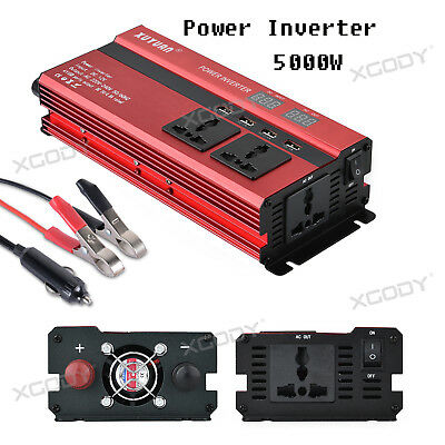 3000W 4000W 5000W LCD Car Power Inverter 24V To AC220V USB Charger Home Caravan