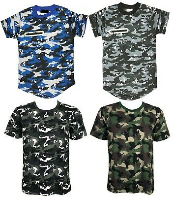 Boys Camouflage Kids T shirt Childrens Army Woodland Camo Military School POLO