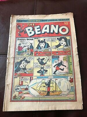 Beano comic issue 825, May 10th 1958. Fair condition.