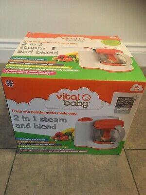 Vital Baby Food Blender 2 In 1 Steam And Blend