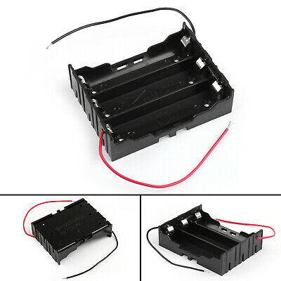 3 Cell 18650 Series Battery Holder Storage Case With Wire Leads 11.1V BU