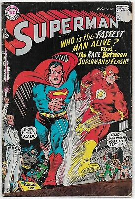 Superman 199 - 'The Race Between Superman and Flash!' - 1967 - DC