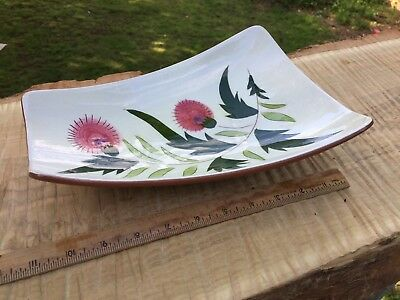 VINTAGE STANGL THISTLE PATTERN FOOTED RELISH TRAY GREAT Gently Used Cond