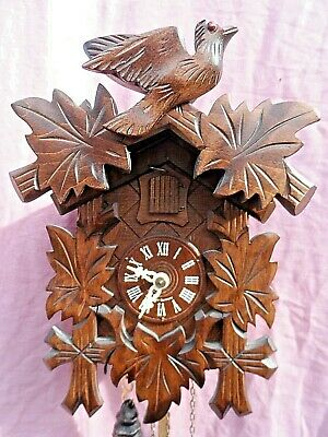 Vintage German Weight Driven Black Forest Cuckoo Clock Gwo Lovely Condition