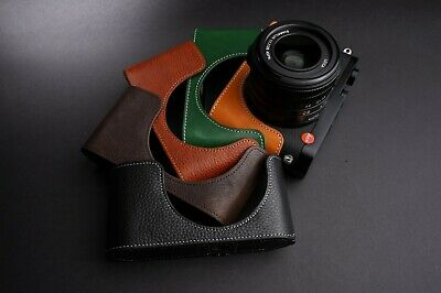 Genuine Real Leather Half Camera Case Bag Cover for Leica Q2 Five Colors