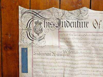 1751 Sutton Coldfield Marriage Settlement 5 page Vellum Deed Document Indenture