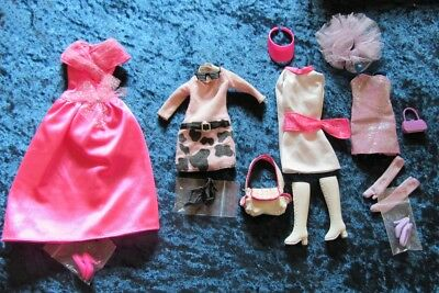 Collection of Genuine Barbie Pink Label Clothes With Shoes etc 02
