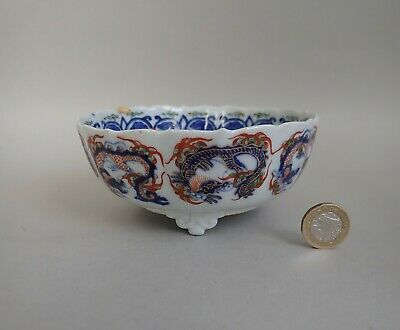 Japanese Imari Kakiemon Style Dragon Pattern Footed Bowl 19C