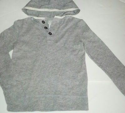 3f59e51e boy 7y 8y CREWCUTS (JCrew) *outlet* heather henley pullover hoodie shirt/