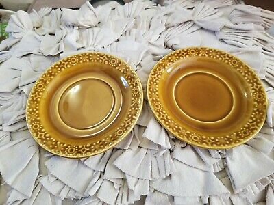 CONNEMARA CELTIC EARTHENWARE 6 INCH SAUCERS lot of 2