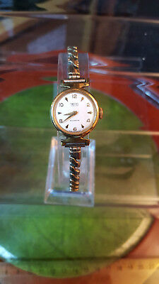 ladies vintage smiths jewelled wind-up dress watch, expanding braceletin.#bv.