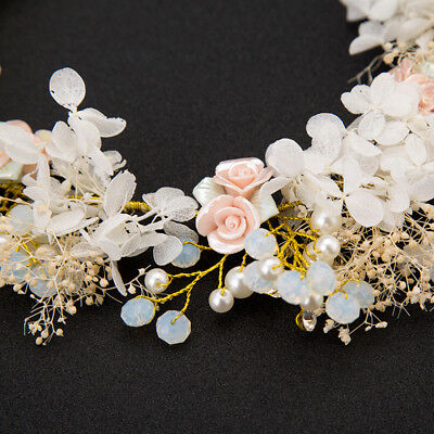 Bridal Wedding Accessories Crystal Headband Garland Lady Rhinestone Flowers Chic