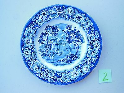 Liberty Blue Historic Colonial Scenes Monticello Plate England 5.875 inches #2