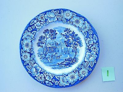 Liberty Blue Historic Colonial Scenes Monticello Plate England 5.875 inches #1