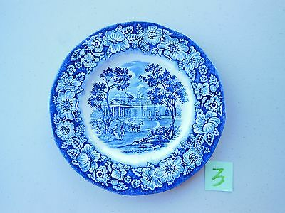 Liberty Blue Historic Colonial Scenes Monticello Plate England 5.875 inches #3