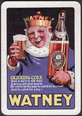 Playing Cards 1 Swap Card Old Vintage JOHN COURAGE Brewery ALE BEER Cockerel 2