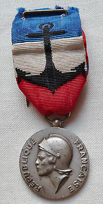 Médaille d'Honneur Marine Nationale ARGENT attribuée 1985 ORIGINAL French medal