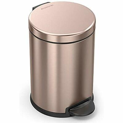 SIMPLEHUMAN KITCHEN TRASH Cans Rose Gold Steel, 4.5L / 1.19 Gal Round Step  Can