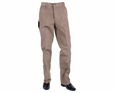 FARAH CLASSIC Mens Corduroy Trousers Flat Front Straight Wale Cord Beech