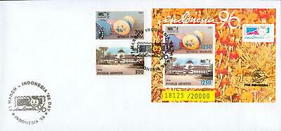 Indonesia s´sheet Michel Nr.106 B on FDC 21.3.1996 ht87