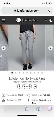 e3c351f5e12d8f LULULEMON NO SWEAT Pant Sea Side Silver Fox Alberta Lake Heathered ...