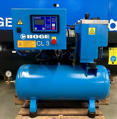 Boge CL3-90 Receiver Mounted Rotary Screw Compressor! 2.2Kw! Single Phase! 230v!