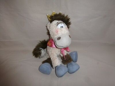 Peluche Doudou Diddl Cheval Galupy Couronne Or TBE 35cm