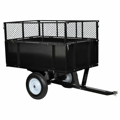 Lawn Tractor Trolley 300 kg Cart Wagon Wheelbarrow Tipping Trailer Carrier W9B0