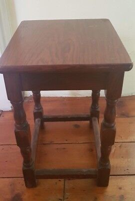 Arts And Crafts Style Wooden Stool Or Table