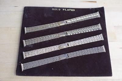 (refWS14) Set of gold plated ladies wristwatch straps vintage item NEW old stock