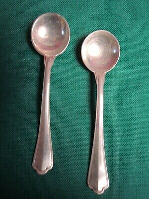 """2 CUCCHIAINI  ARGENTO 800  """"pepe/sale"""" S. MARCO - SILVER   STERLING  #C1#"""