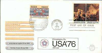 Netherlands + USA special 2state FDC USA 1776-1976 hz26