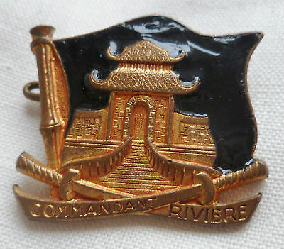 Insigne MARINE NATIONALE COMMANDANT RIVIERE PAGODE ORIGINAL FRENCH NAVY BADGE