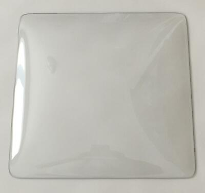 """Pam Clock Square 15"""" Clear Glass Replacement Dome"""