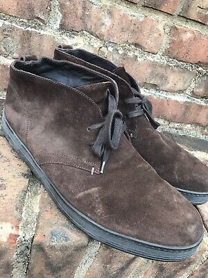 56335e616002f $990 TOM FORD Clarence Dark Brown Suede Rubber Sole Desert Chukka Boots  Size 11D