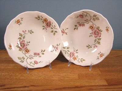 Florganza Ironstone China Soup/cereal bowl - set of 2 - Made in Japan