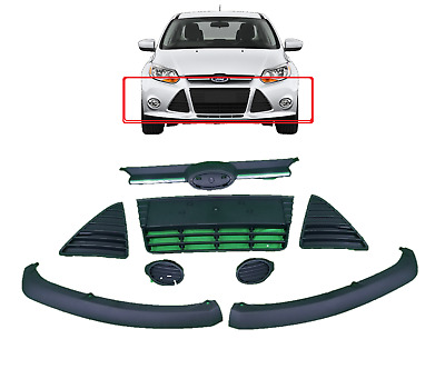 2012 2013 2014 Ford Focus Complete Front Bumper Grill Cover Assembly Fog Cover