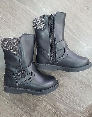 Debenhams Bluezoo girls black boots size Uk 4 EUR 20