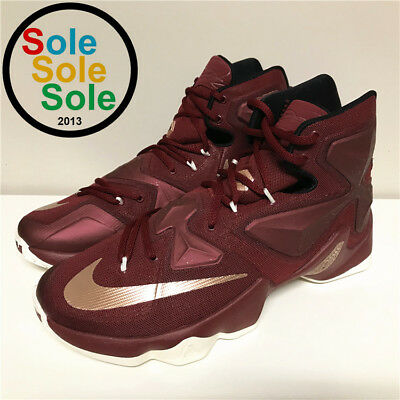 separation shoes e5b23 37574 Nike Lebron XIII 13 Cavs Red Gold James 807219 690 size 10