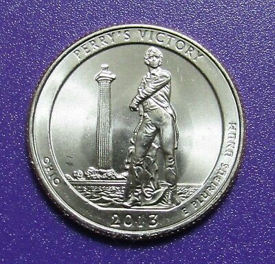 2013-D 25C Perry's Victory Ohio National Parks America the Beautiful Quarter