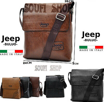borsa uomo tracolla pelle JEEP BULUO casual men bag jeep