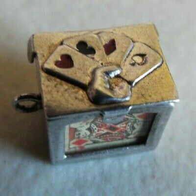 Vintage Sterling Silver Deck Of Miniature Playing Cards Charm