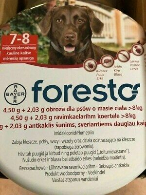 Bayer Seresto/Foresto Flea & Tick Collar for Large Dogs, 6 available